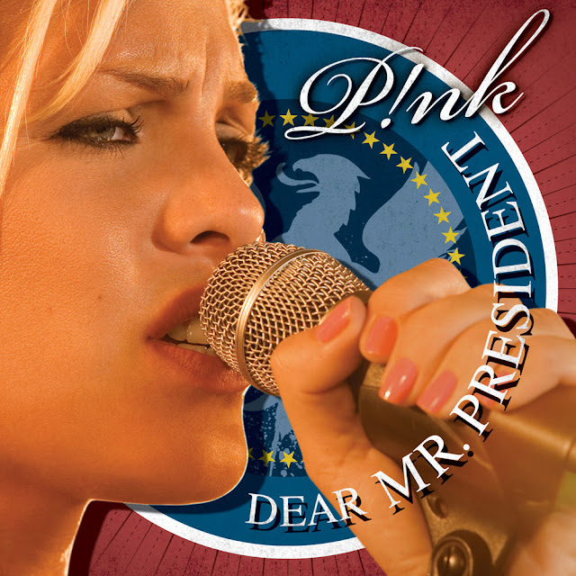 Music Television presents Pink and a filmed performance of her song titled Dear Mr. President, live at Wembly Arena.
