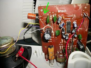 Probador de control remoto interior bocinas PC.