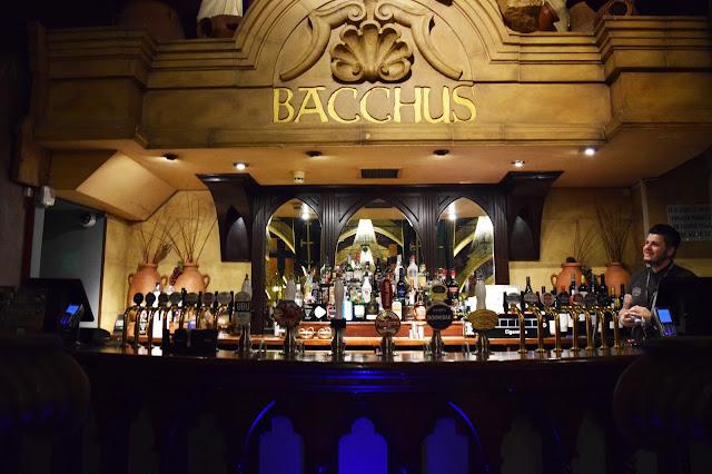 the bar area at Bacchus bar Birmingham