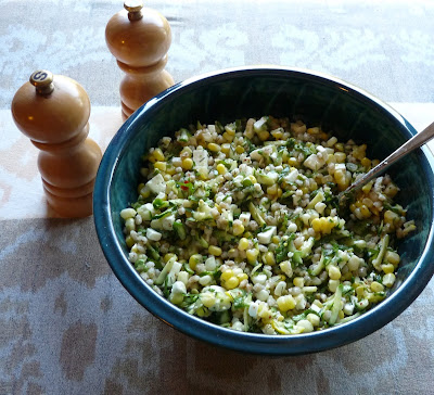 Corn, Zucchdini & Barley Salad with Feta & Herbs