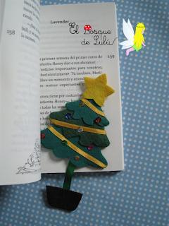 marcapáginas-fieltro-punto-libro-felt-feltro-elbosquedelulu-árbol-Navidad-regalos-originales-personalizados