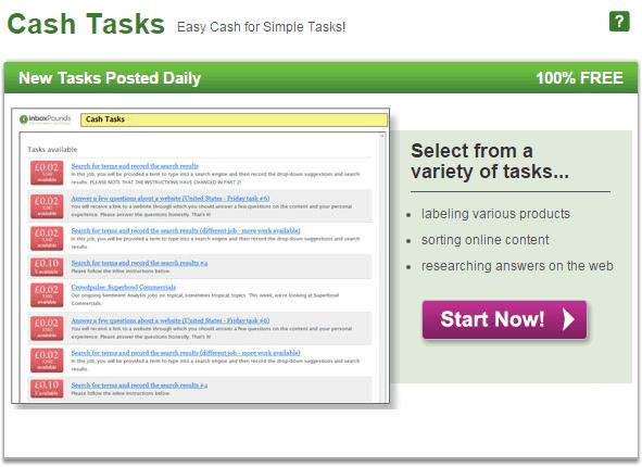 Cash tasks | Inbox pounds