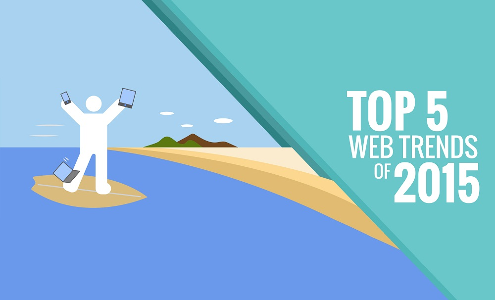 Top 5 Web Design Trends for 2015 - #infographic