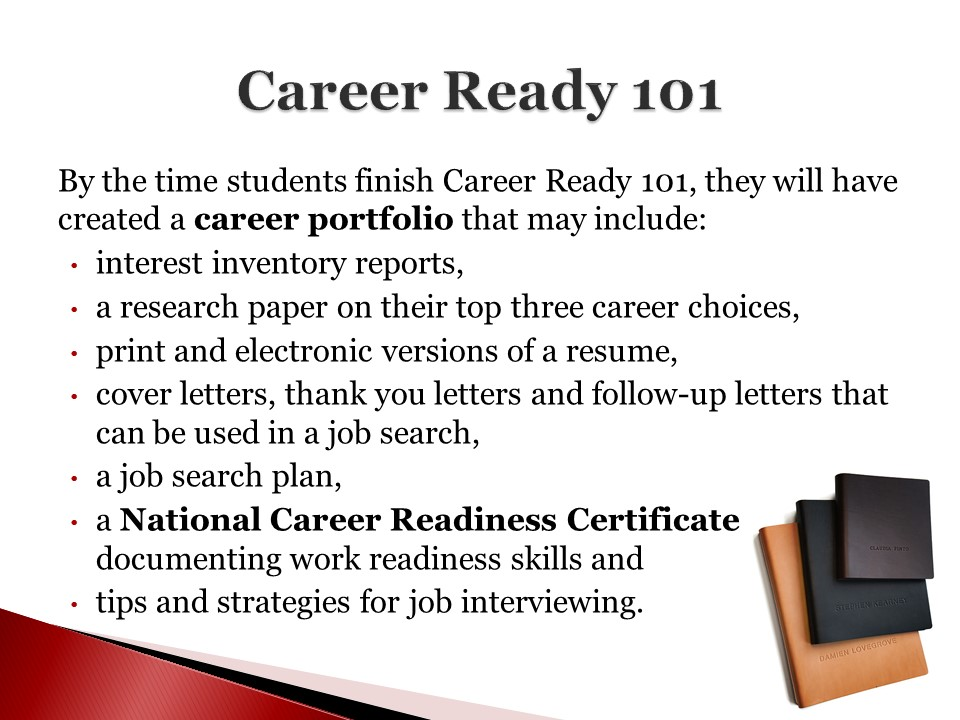 AT THE VIEW Daily: ACADEMICS: What Career Ready 101 Has To Offer...