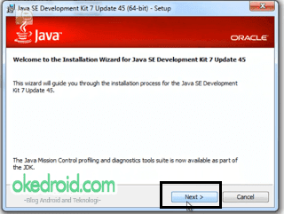 instalasi awal JDK(Java Development Kit).