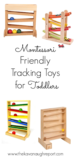 Montessori friendly tracking toys for toddlers