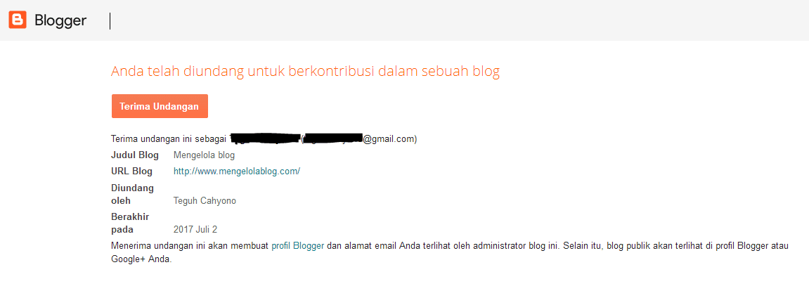 tampilan undangan author blog di blogspot