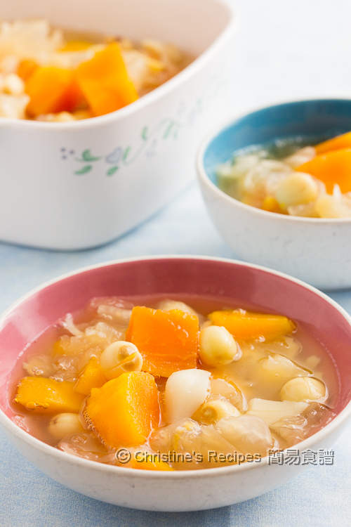 Papaya and Snow Ear Dessert Soup03