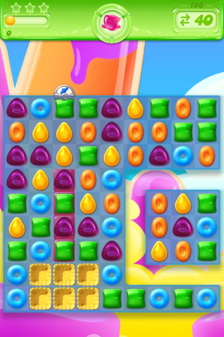 Candy Crush Jelly Saga 186