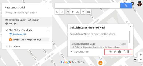 menambahkan lokasi dengan menunjukkan gambar di Google Maps