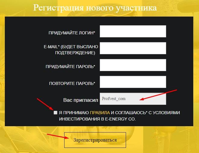 Регистрация в проекте E-Energy 2