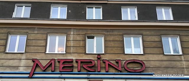 Warszawa Warsaw neony warszawskie światła Merino