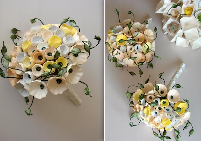 boubouquet ecologico di fiori di carta