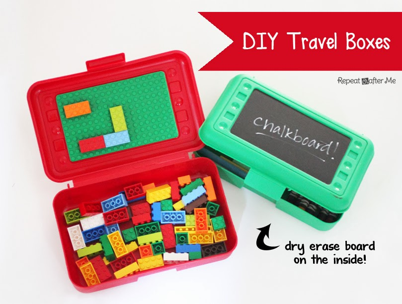 Diy lego and art travel boxes repeat crafter me for Lego diy