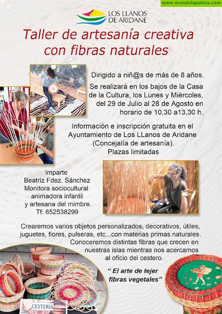 El Ayuntamiento de Los LLanos inicia a los más pequeños en el mundo de la artesanía creativa