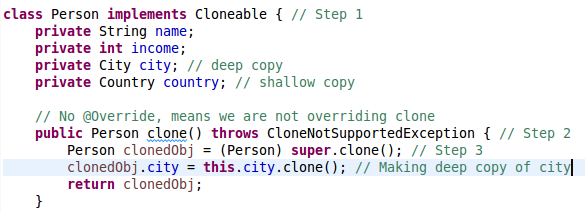 Java Cloning versus Copy Constructor