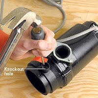 knockout plug garbage disposal