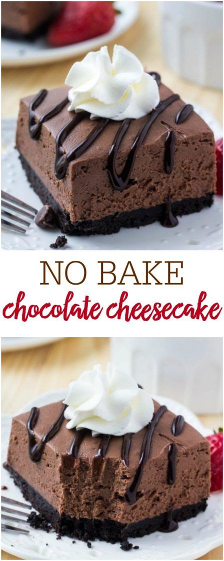 NO BAKE CHOCOLATE CHEESECAKE