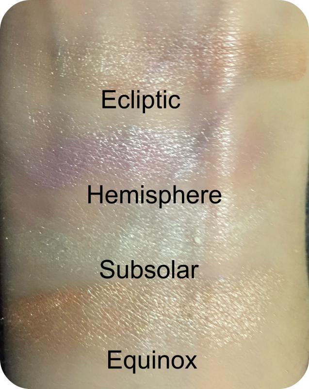 sleek highlighting palette solstice swatch