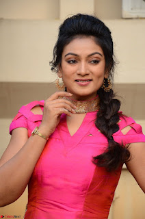 Ashmita in Pink Top At Om Namo Venkatesaya Press MeetAt Om Namo Venkatesaya Press Meet (72).JPG
