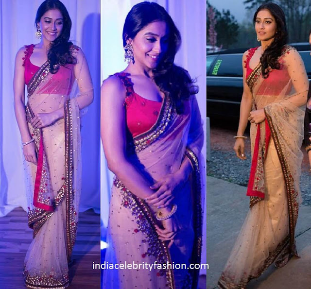Regina Cassandra in Pranthi Reddy Saree