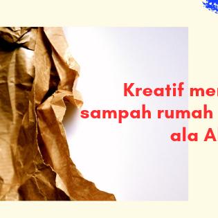 Kreatif mengelola sampah rumah tangga ala Alfamart