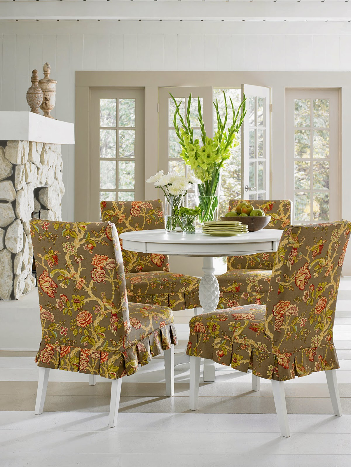 Slipcovers For Dining Room Chairs Sure Fit Slipcovers Super Easy Way To Pretty Up Those