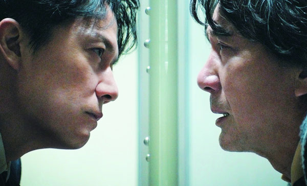 Masaharu Fukuyama and Koji Yakusho in THE THIRD MURDER (2017)