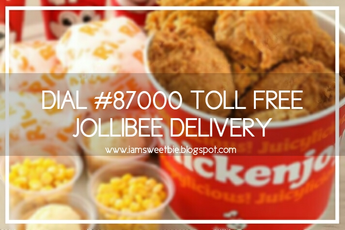 Toll Free Hotline 87000 Jollibee Delivery Made Possible For