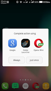Choosing the default app for button