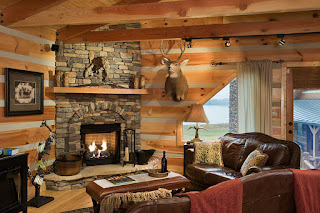 Decorate a log cabin