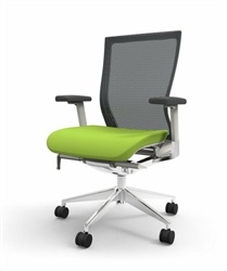Gray and Green Office Chair