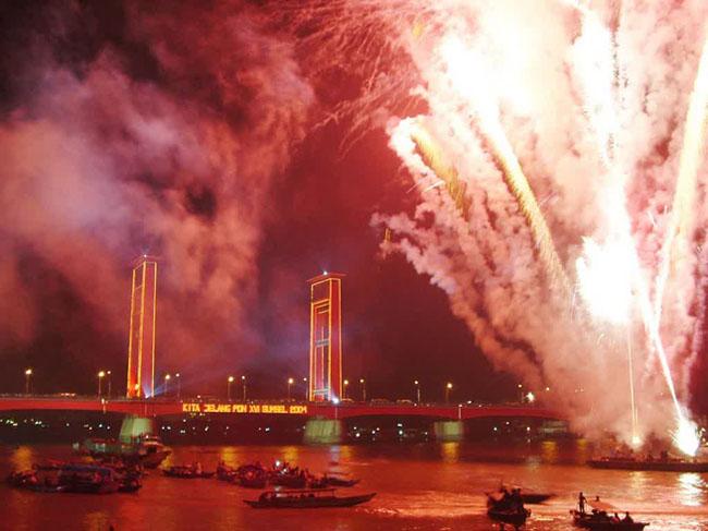 Merayakan tahun baru di palembang