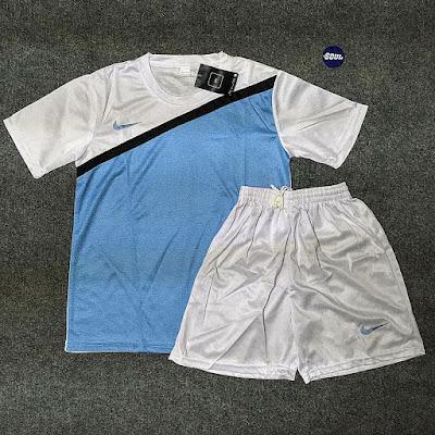 Nike xanh trắng không logo clb