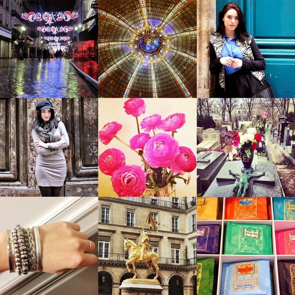 Fashion blogger Emma Louise Layla Instagram photos in Paris
