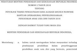 Unduh Juknis DAK  Nonfisik BOP PAUD/PAUDNI Tahun 2018