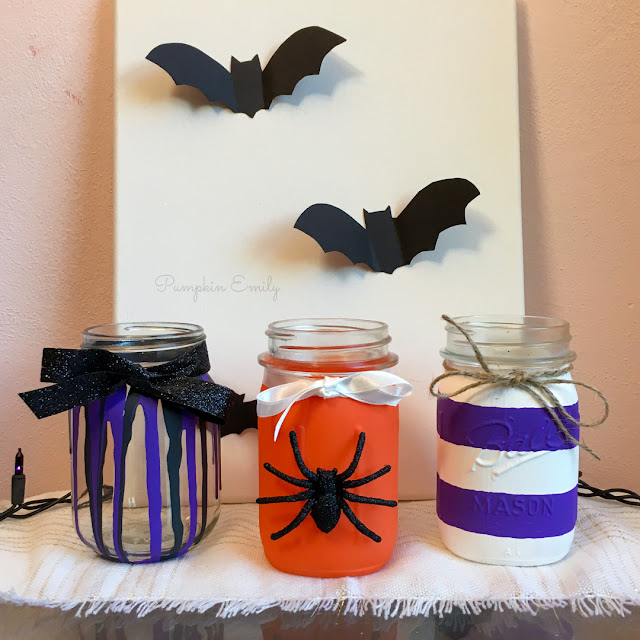 3 Easy DIY Halloween Painted Mason Jar Ideas