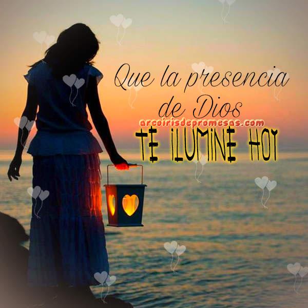 la presencia de dios te ilumina reflexiones cristianas con imágenes arcoiris de promesas