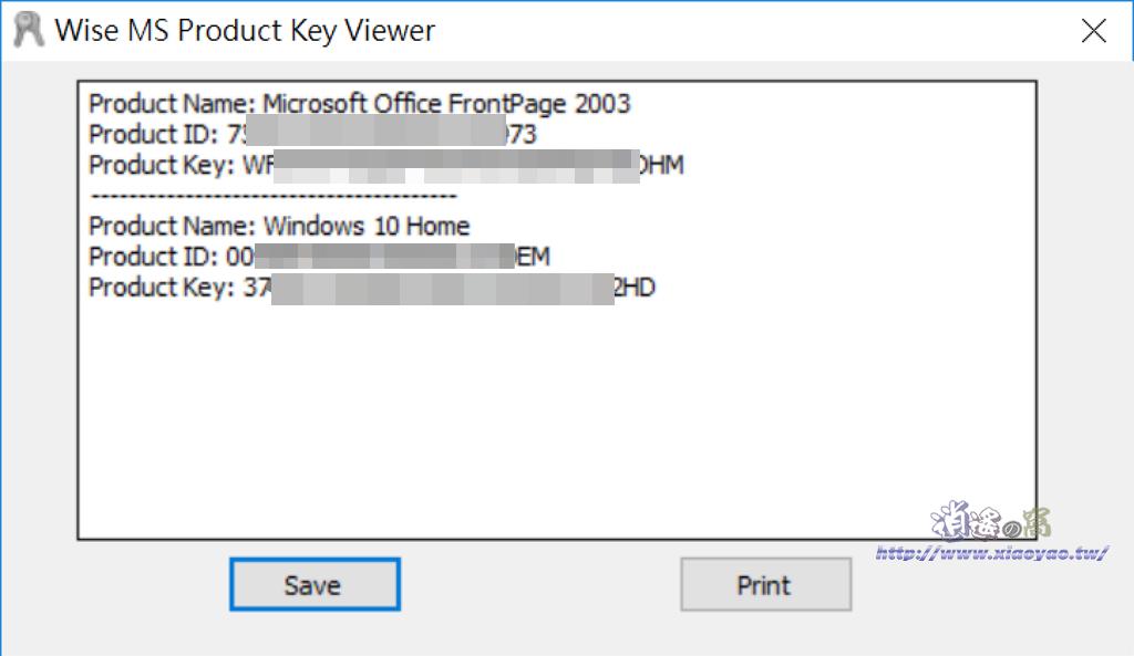 Wise Windows Key Finder 查看產品啟用序號