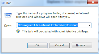 Shortcuts to Open Internet Explorer From Run