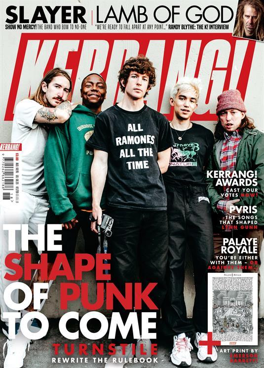 'ALL RAMONES ALL THE TIME' t-shirt worn by Turnstile Brendan Yates on the cover of  Kerrang! Magazine 5th May 2018. PYGear.com
