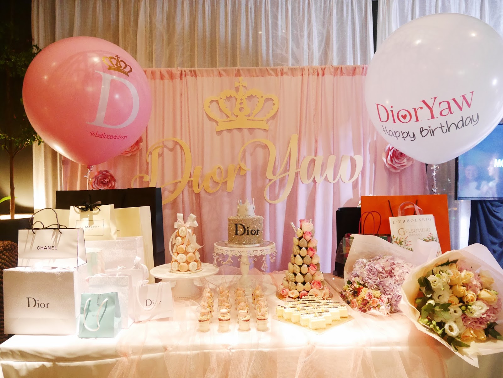 Party So Lovely With The Flowers We Also Have Some Balloons Arranged On Tables By BalloonDotCom All Are Done Them Too