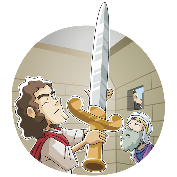 Today's Christian Clipart: Ahimelek helped David
