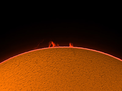 Protuberàncies solars  9/07/2018  9:15 UT
