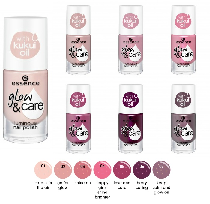 essence glow care luminous nail polish