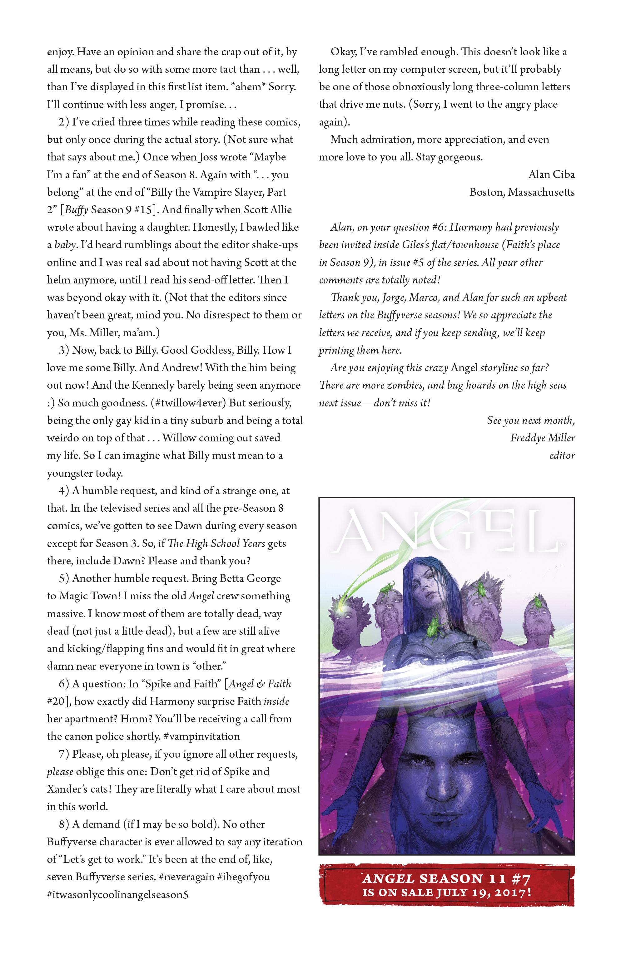 Read online Angel Season 11 comic -  Issue #6 - 27