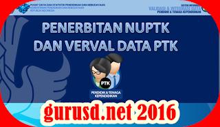 Syarat Penerbitan NUPTK 2016 Surat Resmi Ditjen GTK Kemdikbud