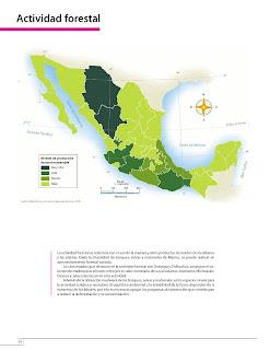 Apoyo Primaria Atlas de México 4to Grado Bloque IV Lección 5 Actividad forestal
