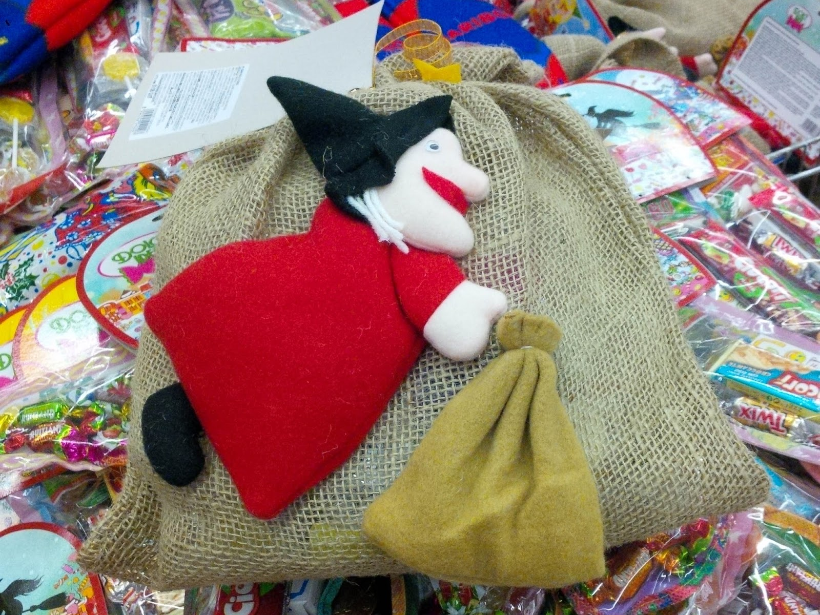 Befana And Stockings With Sweets Celebrating Italy