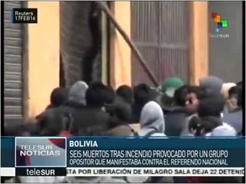 VIDEO QUE FUE BORRADO DE TELESUR SOBRE CONFLICTO EN ALCALDIA DE EL ALTO